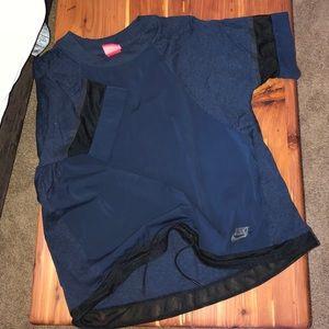 Nike navy blue top